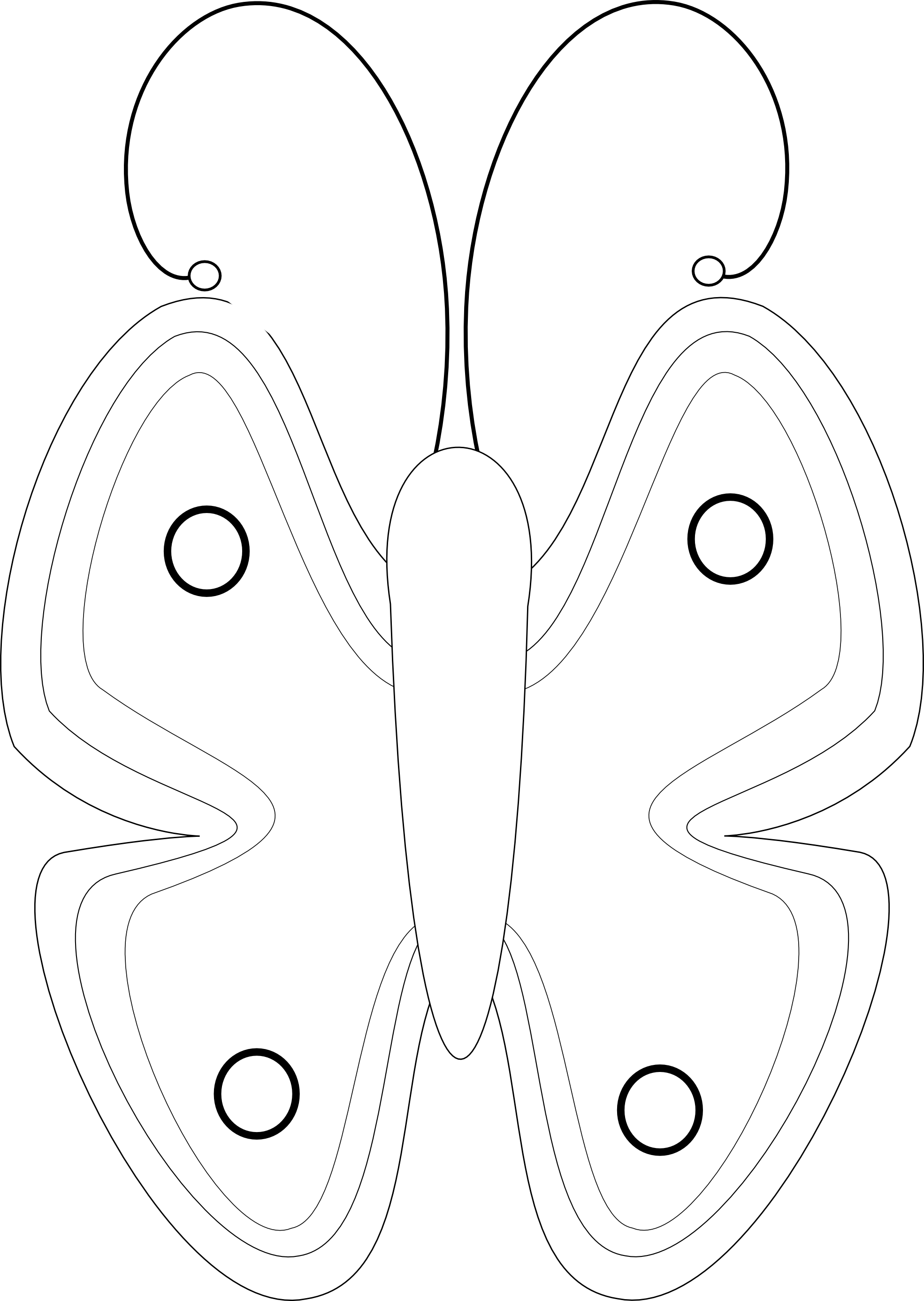 Line Art Using Illustrator : Butterfly net drawing clipart panda free images