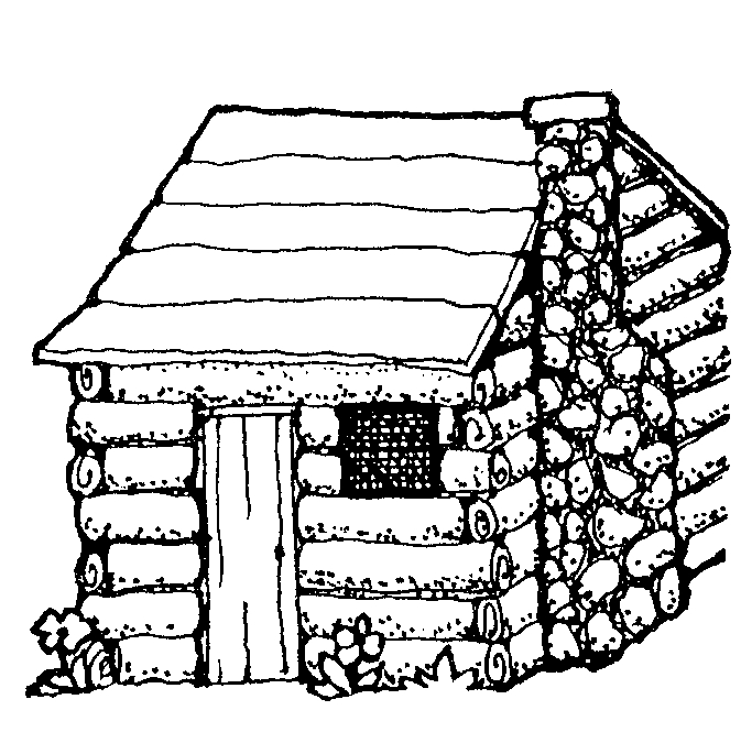 Log cabin coloring page clipart panda free images