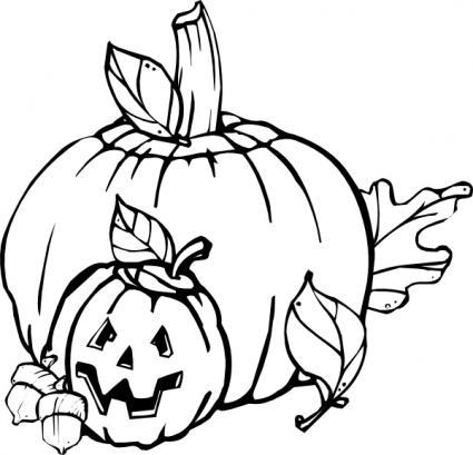 Halloween Clip Art Black And White Pumpkin | Clipart Panda - Free ...