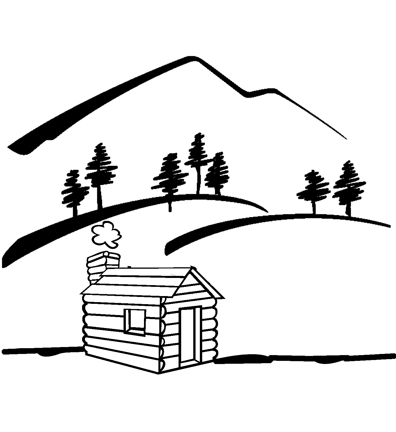 Line Drawing River : Mountain river clip art black and white clipart panda