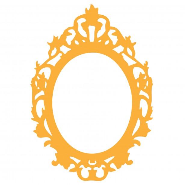 Oval White Framed Mirror