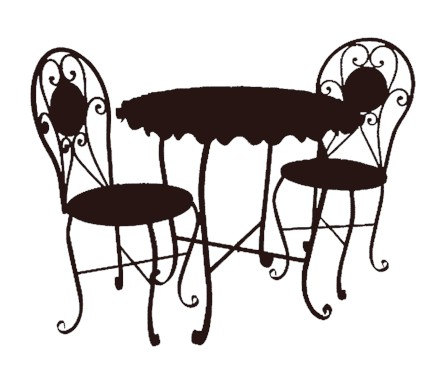 Cafe Clipart Cafe table and