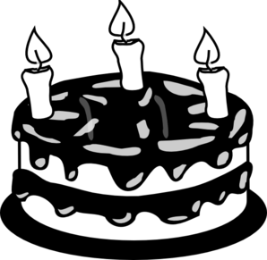 Cartoon of a Black and White Layered Cake with a Slice Cut ...  |Cake Slice Clipart Black And White