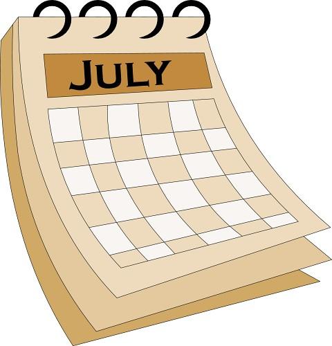 Clip Art Calendar July : July calendar clip art clipart panda free images