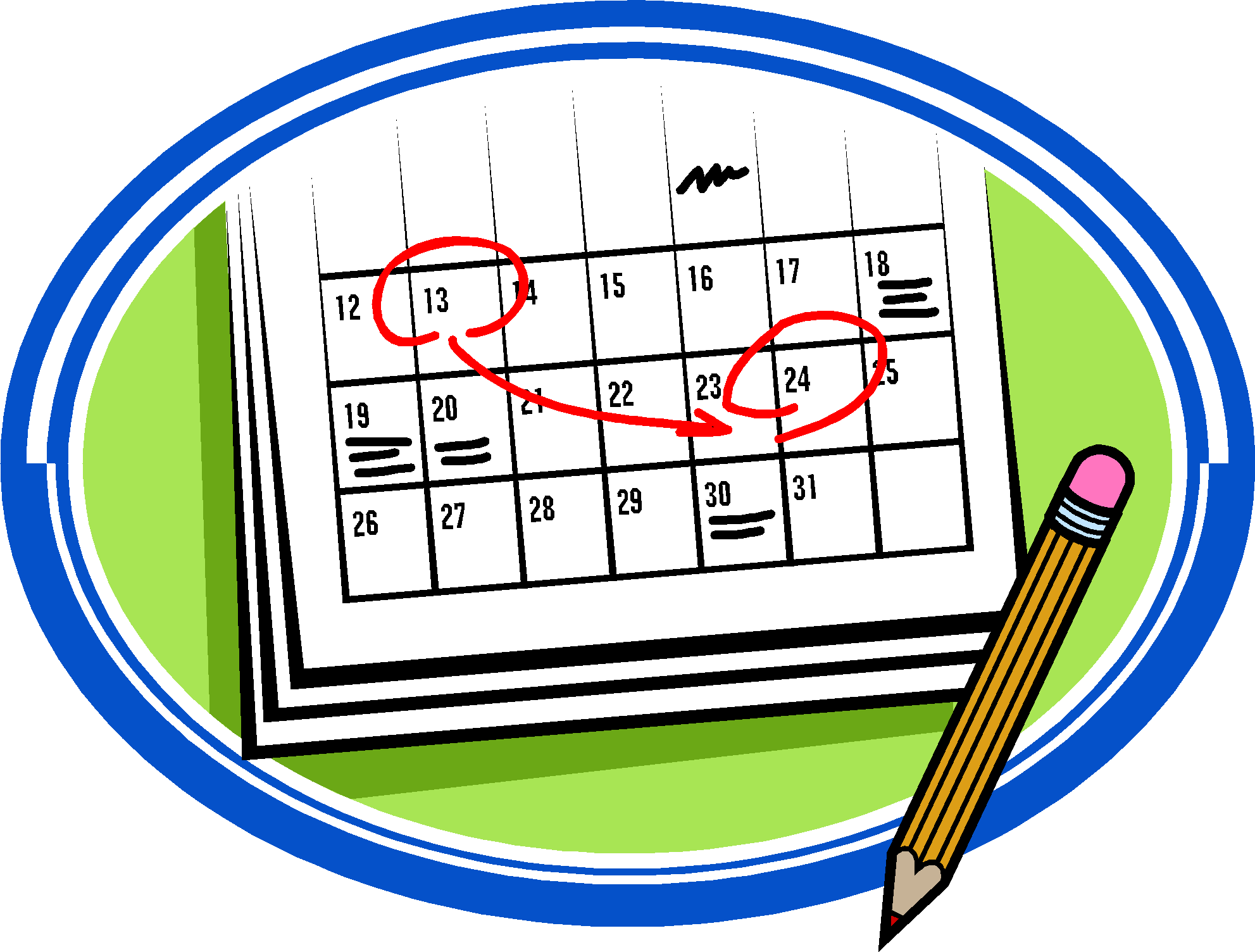 Calendar Date Clipart : Important dates newman s neighbourhood