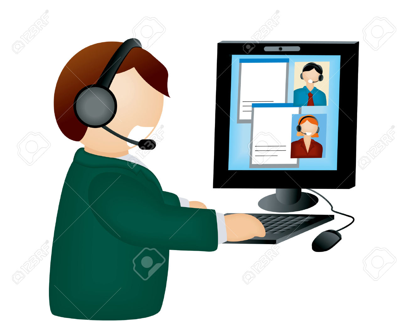web conference call clipart panda free clipart images