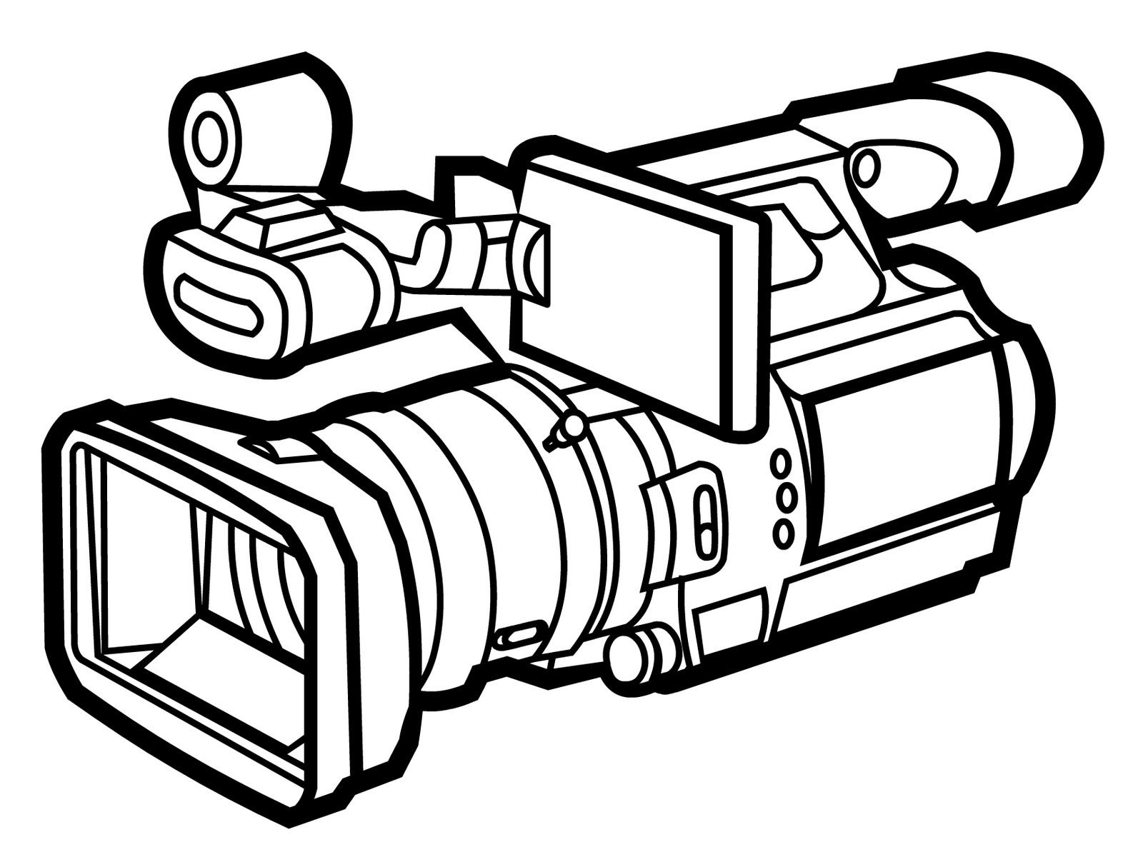 video surveillance camera clipart