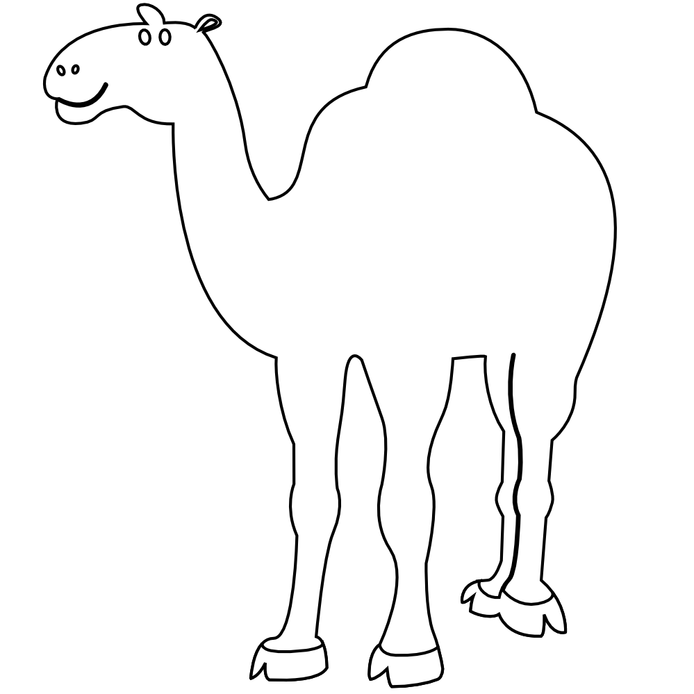 Cartoon Animal Coloring Pages Camel