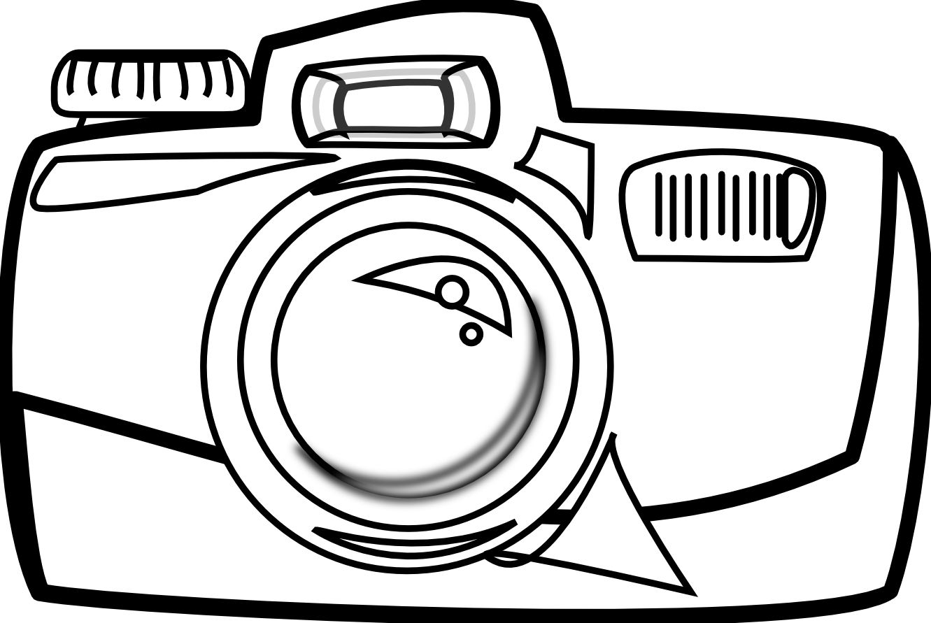 Camera Line Drawing Tattoo : Camera black and white clipart panda free images