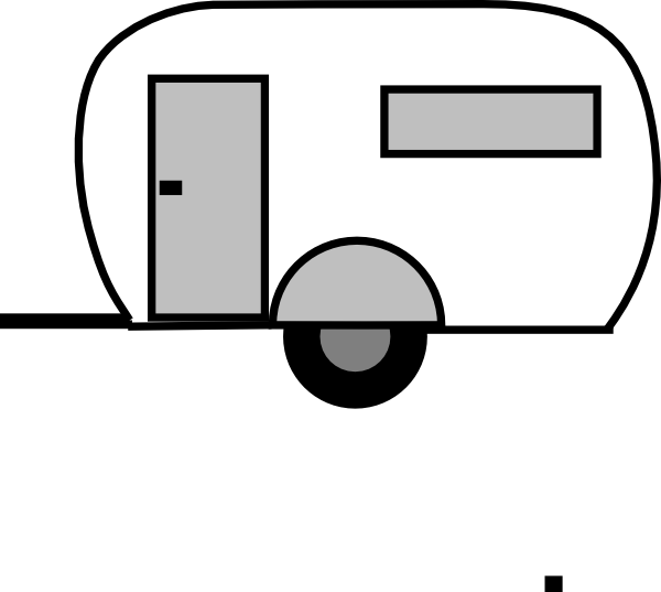 Airstream clip art - vectorVintage Camper Clipart