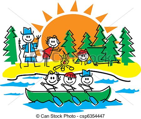 Family Hiking Clipart