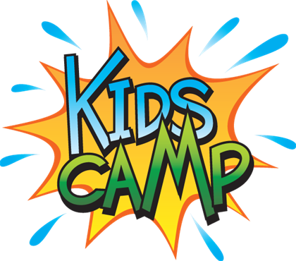Camping kid. Kids summer camp clipart