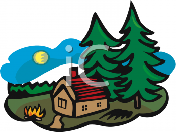 Cabin In The Woods Clipart