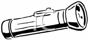 Flashlight Clipart Black And White