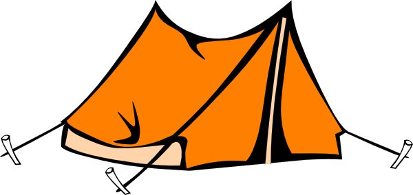 Camping Tent Clipart Black And - 30.1KB