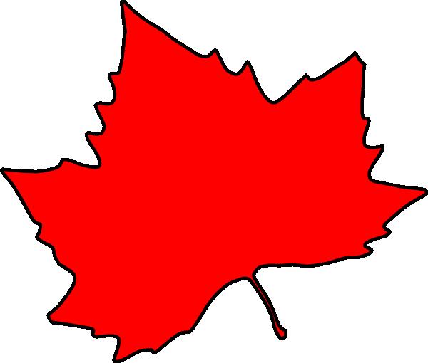 Red Leaf Clipart   Cli...