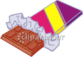 Opened Chocolate Bar Clipart