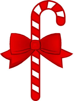 Candy cane bow. With clipart panda free
