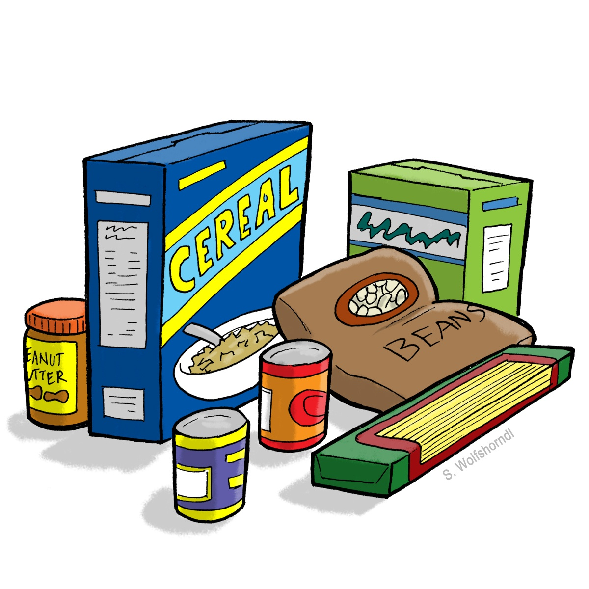 Boxed Food Clip Art