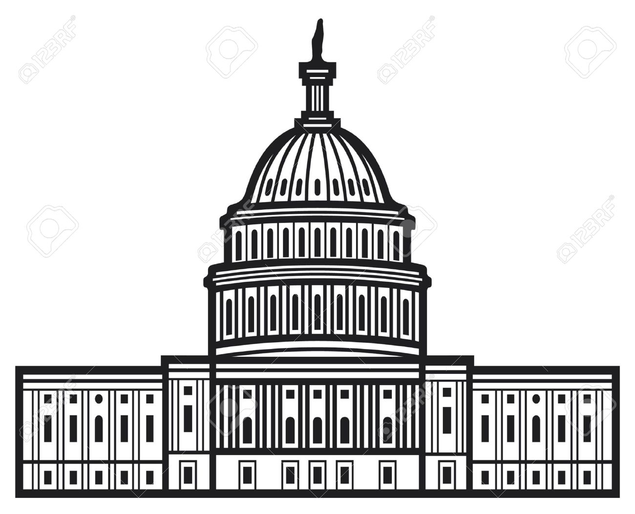 Washington Dc Capitol Building Clip Art Pictures to Pin on ...