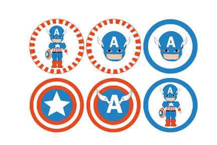 Superhero Birthday Cake Toppers
