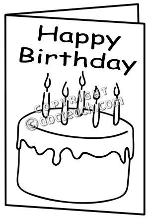 Clip Art Birthday Card B W Clipart Panda Free Clipart Images