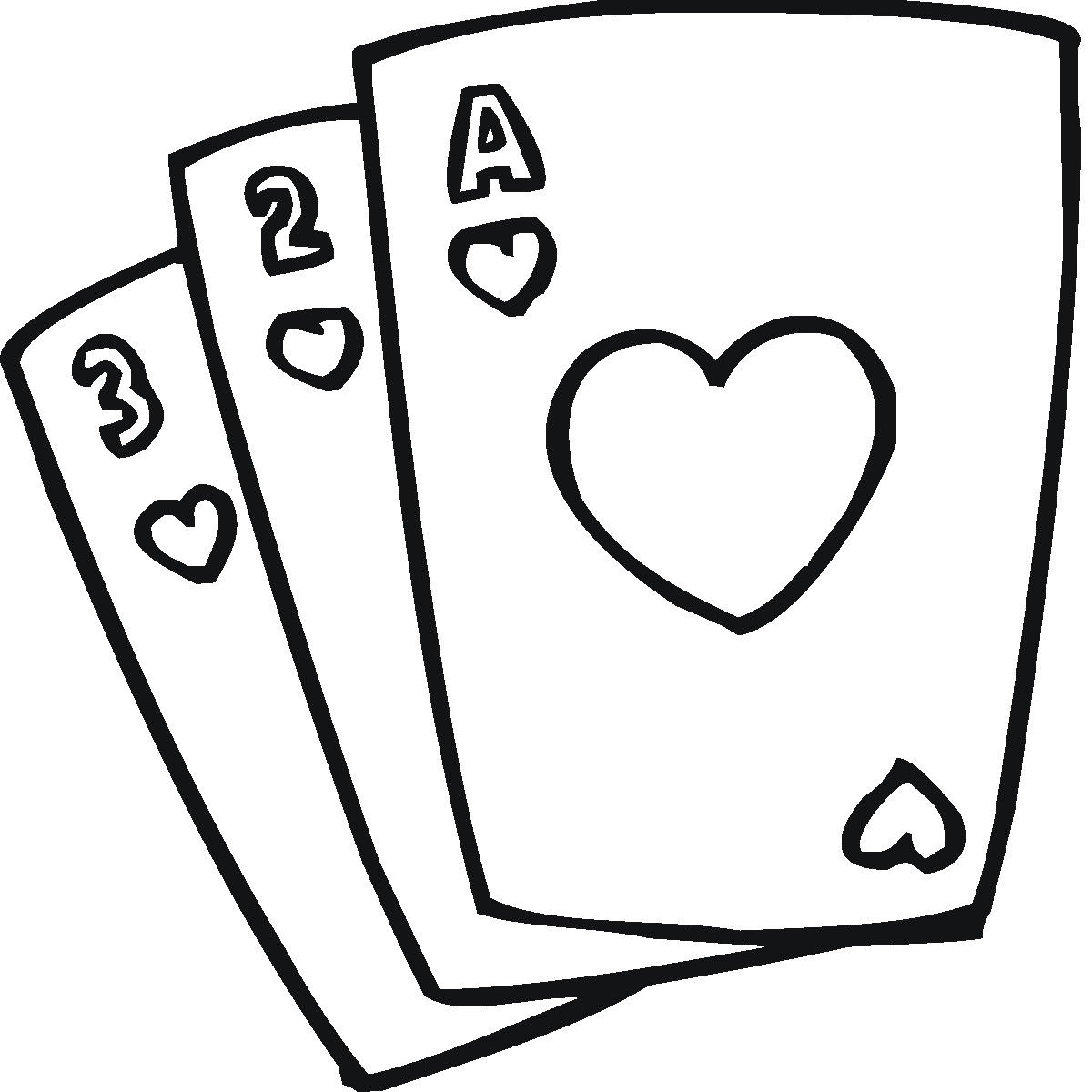 Vector Drawing Lines Game : Cards clipart panda free images