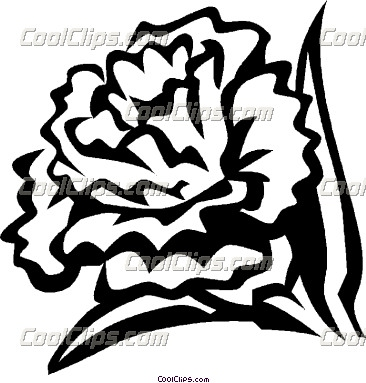Clip Art Carnation Flower | Free | Download