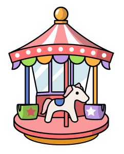 cartoon carousel clip art clipart panda free clipart images rh clipartpanda com carousel clip art images carousel clipart