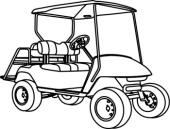 golf cart clip art black and white clipart panda free