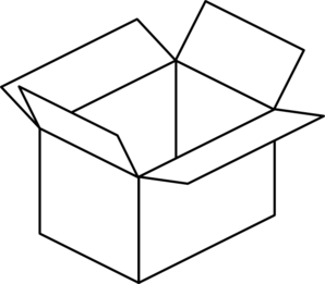 carton-clipart-carton-open-box-md Black Box Christmas Tree