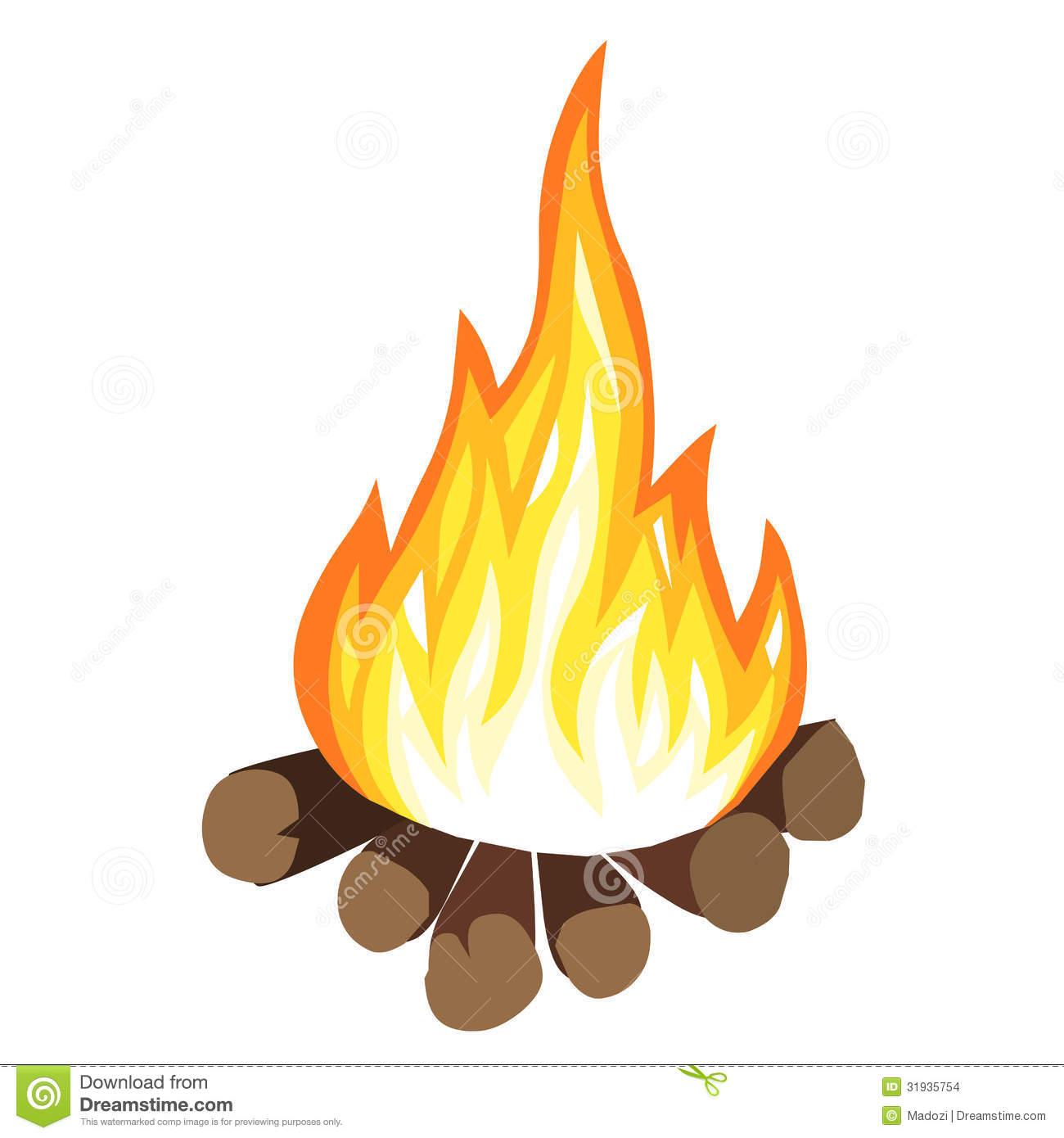 Bonfire Cartoon | Clip...