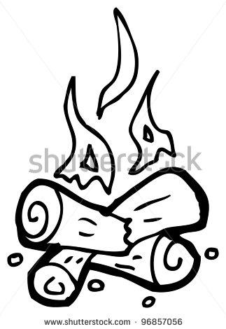 Cartoon Doodle Of A Camp Fire Clipart Panda