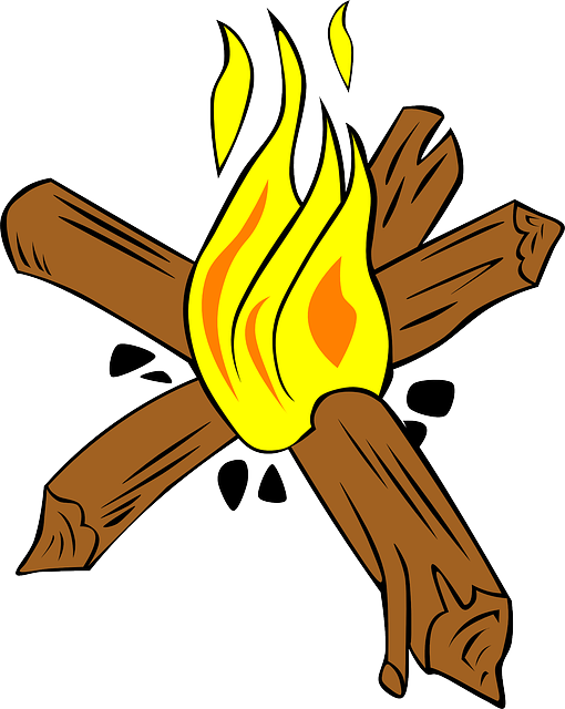 Burning Wood Clipart Campfire, Fire, Wood, ...
