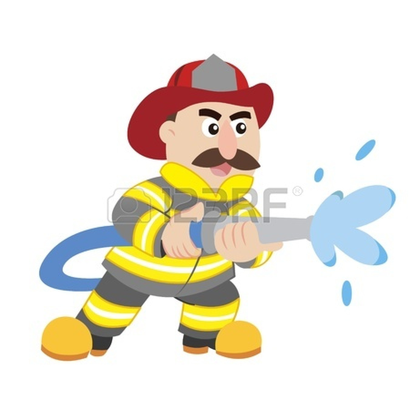 how to draw a picture of a firefighter