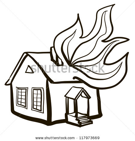 Cartoon House Burning | Clipart Panda - Free Clipart Images