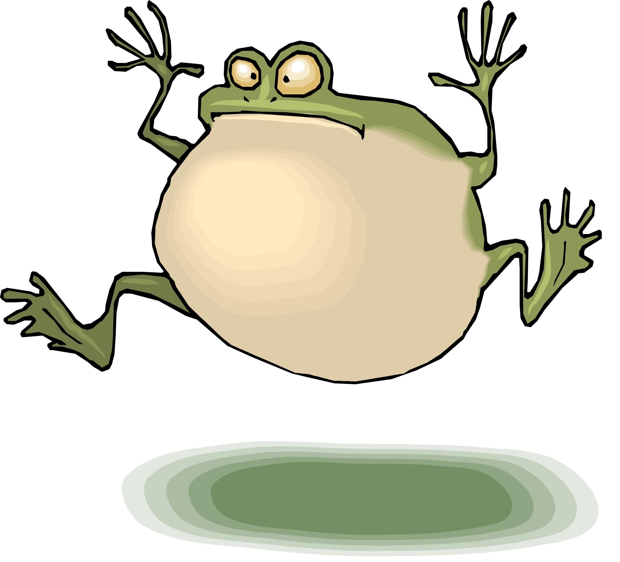 Jumping frog animation - photo#16