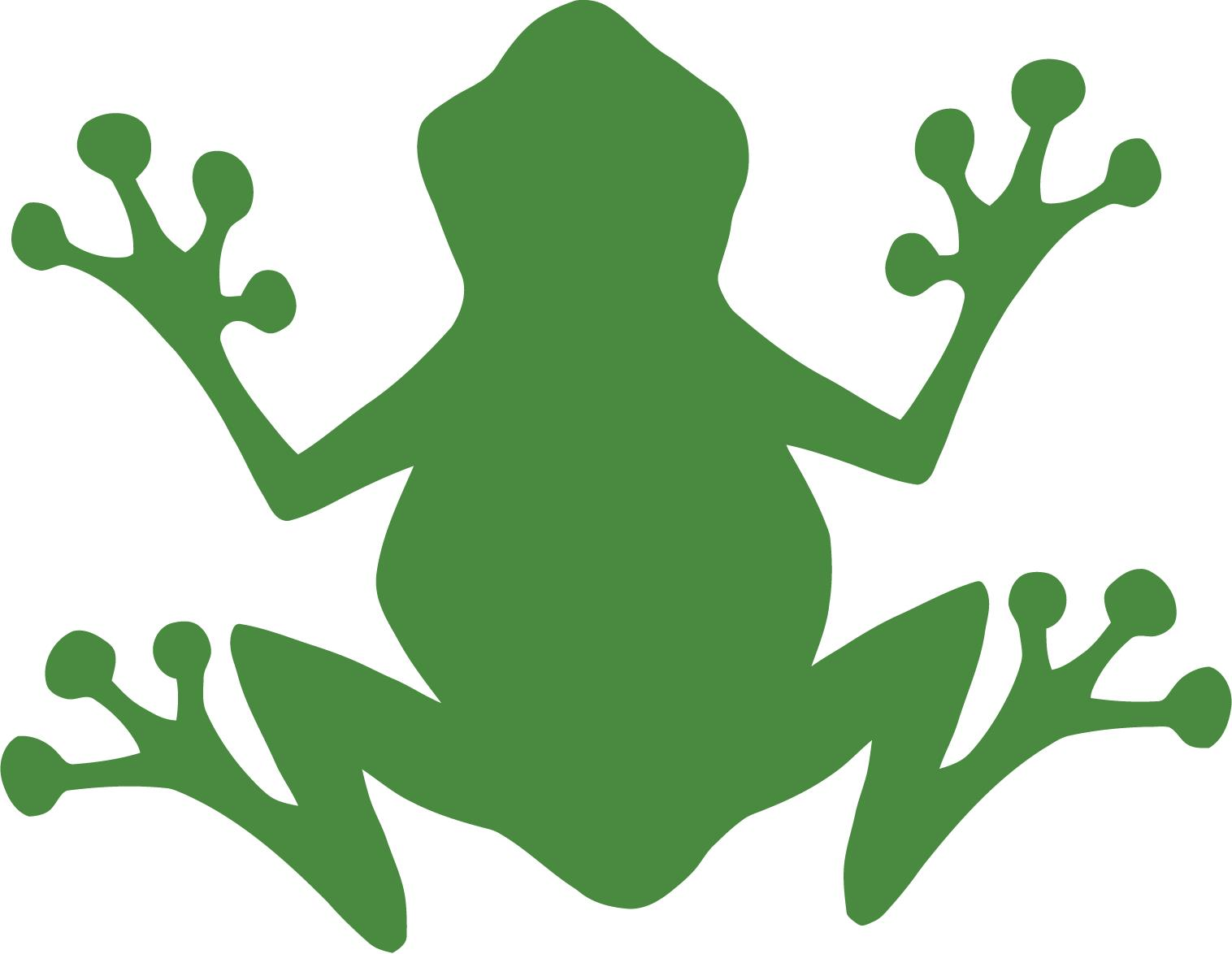 Red Frog Beach Island Resort Logo: Jumping Frog Cartoon