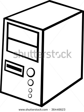 computer cpu case tower clipart panda free clipart images