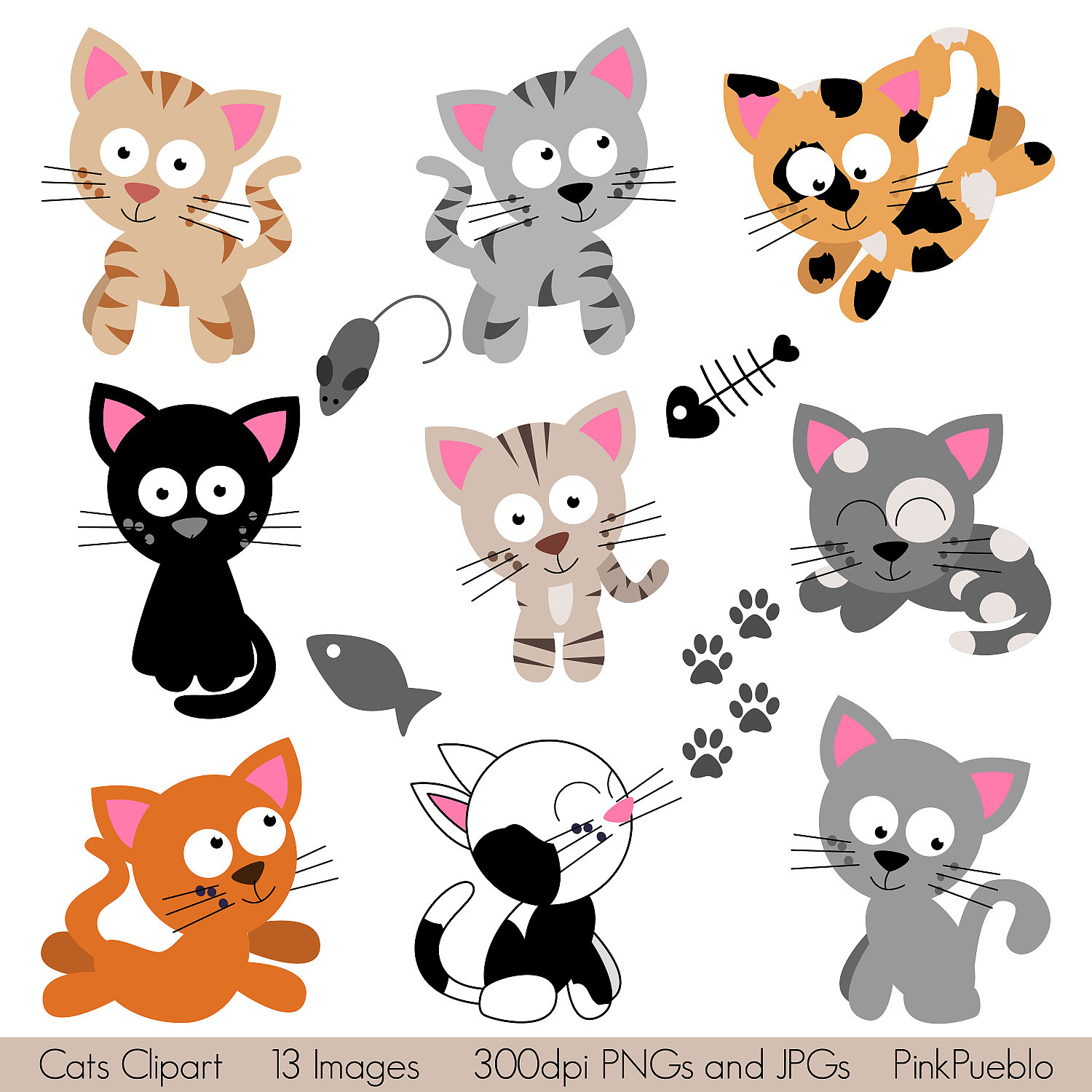 Cat Clipart on Whimsical Tree Clip Art Free