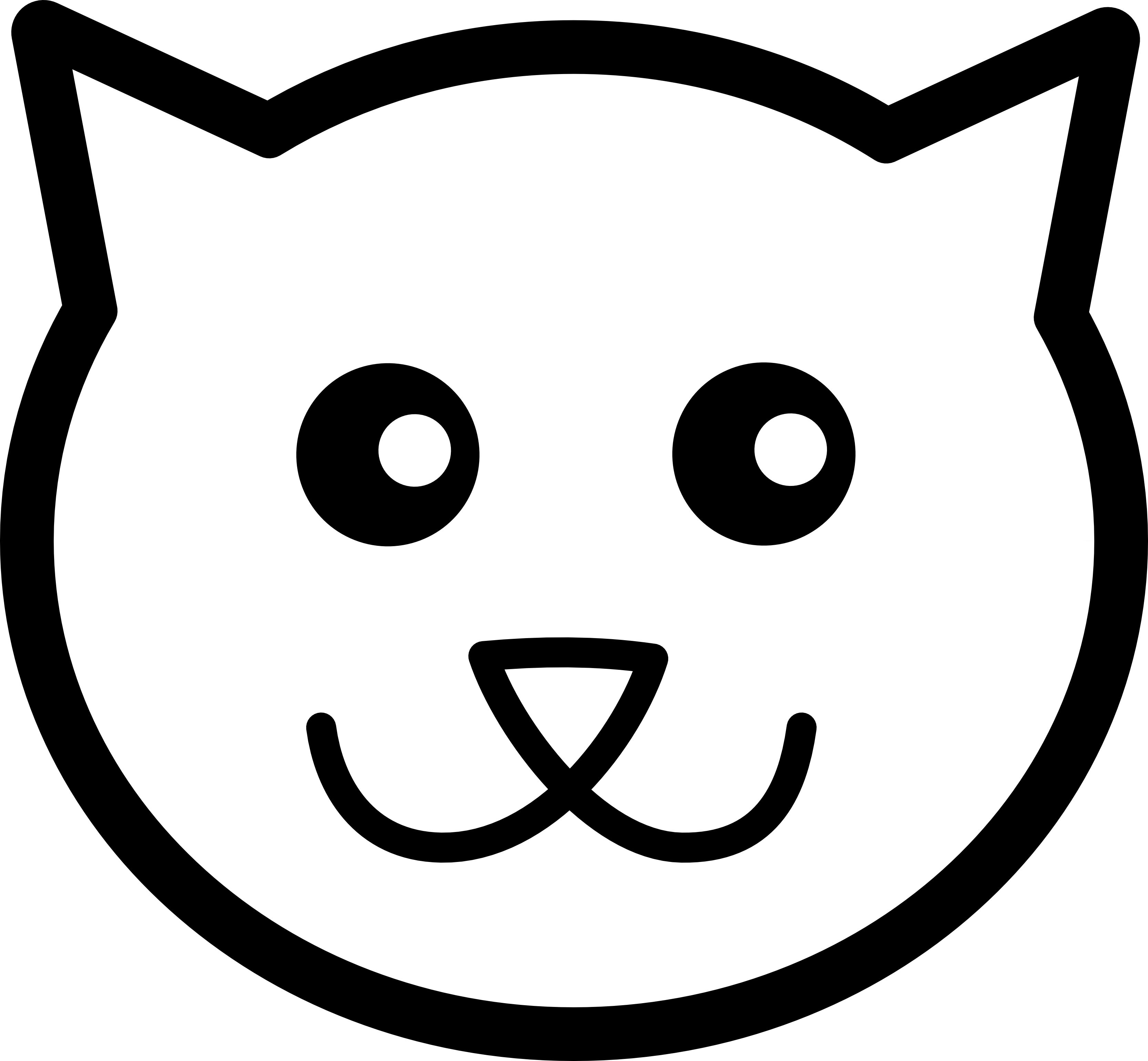 Line Art Icons Free : Cat face clipart panda free images