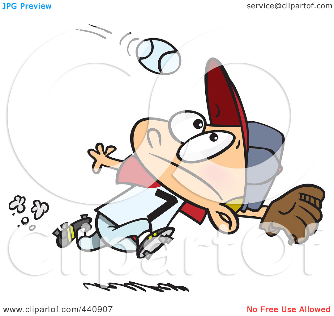 Baseball player running bases clipart