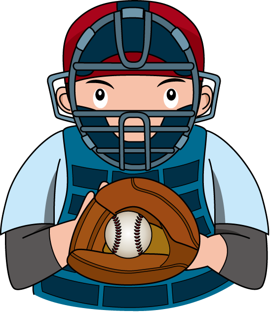 Baseball Catcher Clip ...