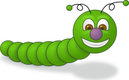 Caterpillar On A Leaf Clipart | Clipart Panda - Free Clipart Images