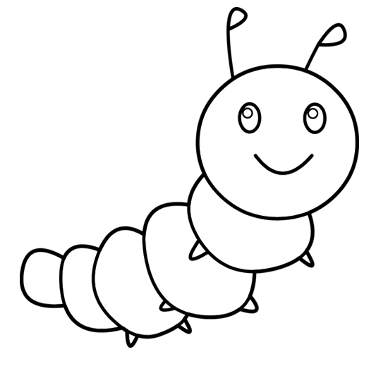Free Coloring Pages Of Butterfly Larva