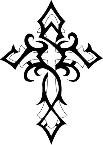 Catholic Cross Drawing Clipart