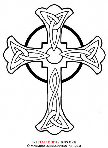 Cross Tattoo Line Drawing : Celtic cross tattoo art clipart panda free images