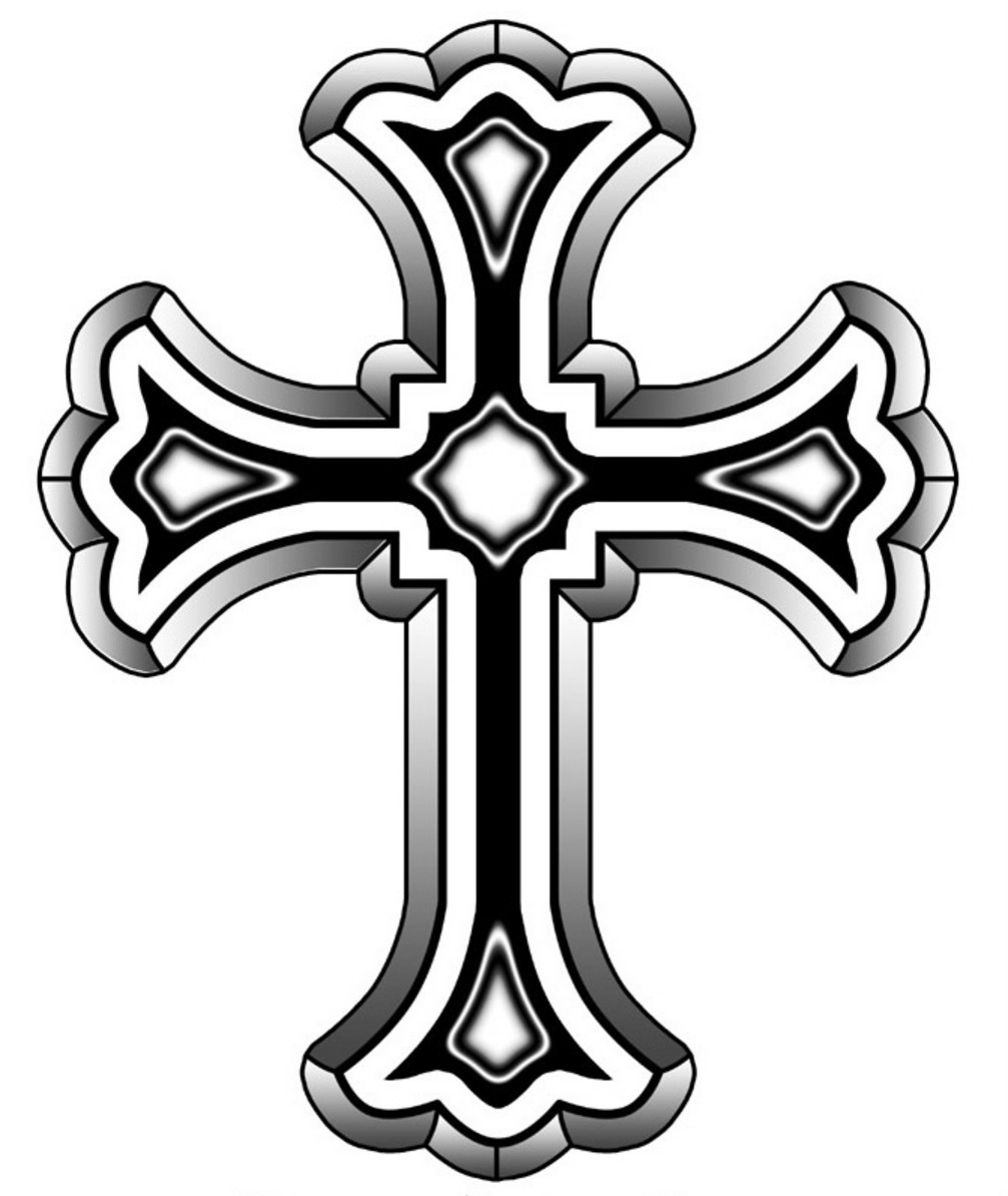 Simple Cross Line Art : Catholic cross drawing clipart panda free images