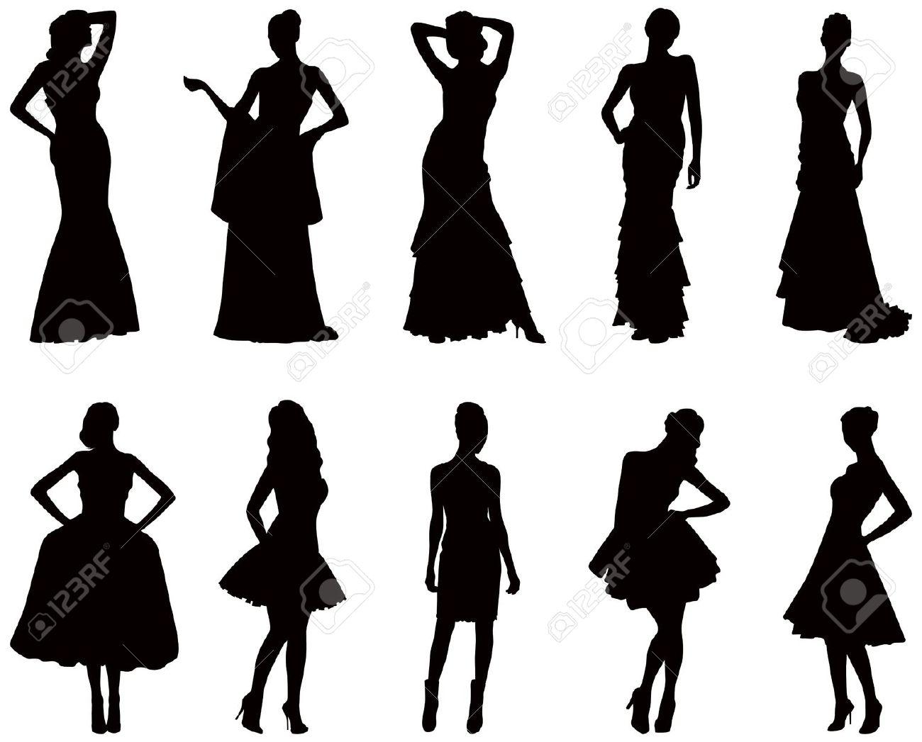 Black Woman Silhouette Clip Art Dresses - Hot Girls Wallpaper