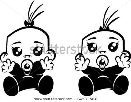 baby clipart black and white – Clipart Download